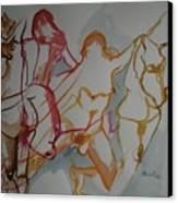 Four Female Figures Canvas Print