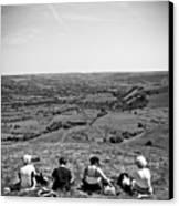 Four Ladies On A Hill Canvas Print by Meirion Matthias