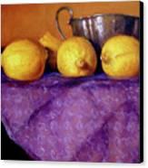 Four Lemons Canvas Print