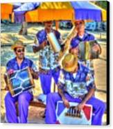 Four Man Band Canvas Print by Michael Garyet