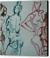 Four Nude Figures Canvas Print