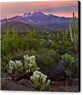 Four Peaks Sunset Canvas Print