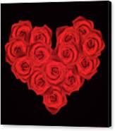 Fourteen Roses Canvas Print by Wim Lanclus