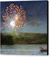 Fourth Of July- Cazenovia Lake Canvas Print by Wayne Daniels