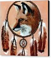Fox Medicine Wheel Canvas Print by Brandy Woods