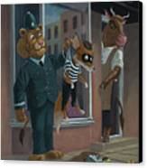 Fox Robber Caught Canvas Print by Martin Davey