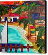 Foxy's At Jost Van Dyke Canvas Print