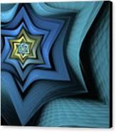 Fractal Star Canvas Print by John Edwards