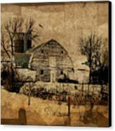 Fragmented Barn  Canvas Print by Julie Hamilton