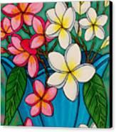 Frangipani Sawadee Canvas Print by Lisa  Lorenz