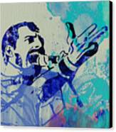 Freddie Mercury Queen Canvas Print by Naxart Studio