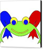 Frederic The Frog Canvas Print
