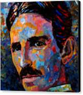 Free Energy Nikola Tesla Canvas Print by Debra Hurd