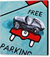 Free Parking Canvas Print by Herschel Fall
