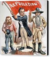 Free Silver Cartoon, 1896 Canvas Print by Granger