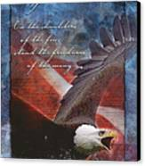 Freedom Greeting Card Canvas Print by William Martin