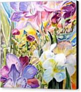 Freesias  Canvas Print by Therese AbouNader