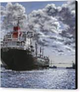 Freighter Inviken Canvas Print