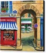 French Butcher Shop Canvas Print