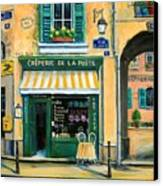 French Creperie Canvas Print by Marilyn Dunlap