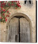 French Doors And Ghost In The Window Canvas Print by Marilyn Dunlap