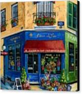 French Flower Shop Canvas Print
