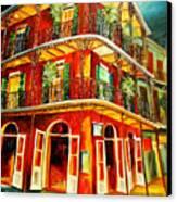 French Quarter Corner Canvas Print