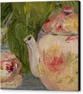 French Teapot Canvas Print