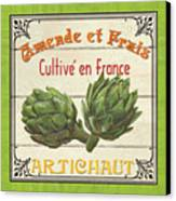French Vegetable Sign 2 Canvas Print by Debbie DeWitt