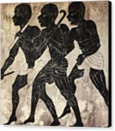 Fresco - Hunters Canvas Print by Michal Boubin