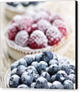 Fresh Berry Tarts Canvas Print
