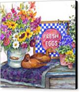 Fresh Eggs Canvas Print