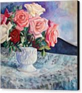 Fresh Roses Canvas Print