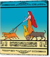 Freya Norse Goddess Canvas Print by Aloysius Patrimonio