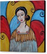 Frida Kahlo Canvas Print by Rain Ririn