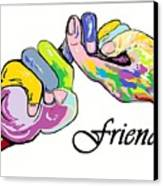 Friends . . . An American Sign Language Painting Canvas Print by Eloise Schneider