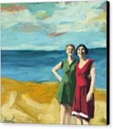 Friends On The Beach Canvas Print