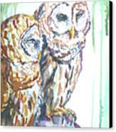 Friends Canvas Print by P Maure Bausch