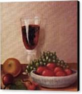 Fruit  And  Wine   A Canvas Print by Helen Thomas