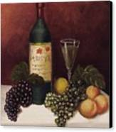 Fruit And Wine  B Canvas Print by Helen Thomas