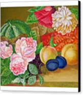 Fruits And Flowers .2006 Canvas Print