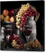 Fruity Wine Still Life Selective Coloring Canvas Print by Tom Mc Nemar
