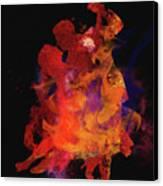 Fuego Canvas Print by M Montoya Alicea