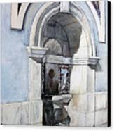 Fuente Castro Urdiales Canvas Print by Tomas Castano
