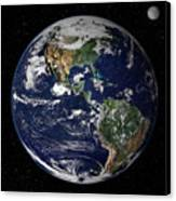 Full Earth Showing North And South Canvas Print by Stocktrek Images