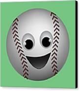 Fun Baseball Character Canvas Print by MM Anderson