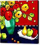 Funny Flowers And Fruit Canvas Print