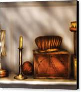 Furniture - Shelf - A Collection Of Curious Items Canvas Print by Mike Savad