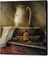 Furniture - Table - The Water Pitcher Canvas Print by Mike Savad