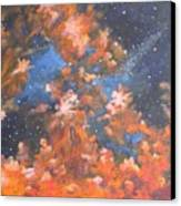 Galactic Storm Canvas Print by Elizabeth Lane